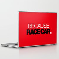 subaru Laptop & iPad Skins featuring BECAUSE RACE CAR v6 HQvector by Vehicle