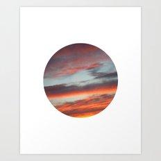 Berkshire Sunset I Circle Art Print