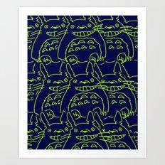 studio ghibli pattern Art Print