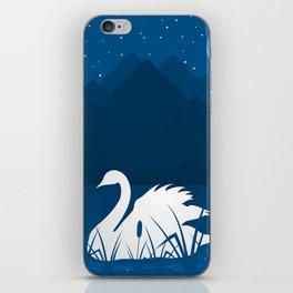 White swan iPhone Skin