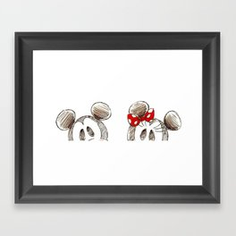 Mickey and Minnie Mouse.  Framed Art Print