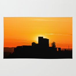 Trifels castle in dawn Rug