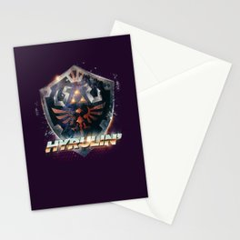 Yeah she sees my Hyrulin' - 80's Legend of Zelda Shield Stationery Cards