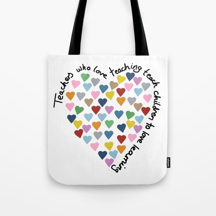 Hearts Heart Teacher Tote Bag By Projectm Society6