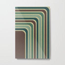 Retro Stripes Pattern Metal Print