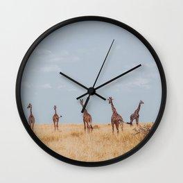 Hello Giraffes Wall Clock