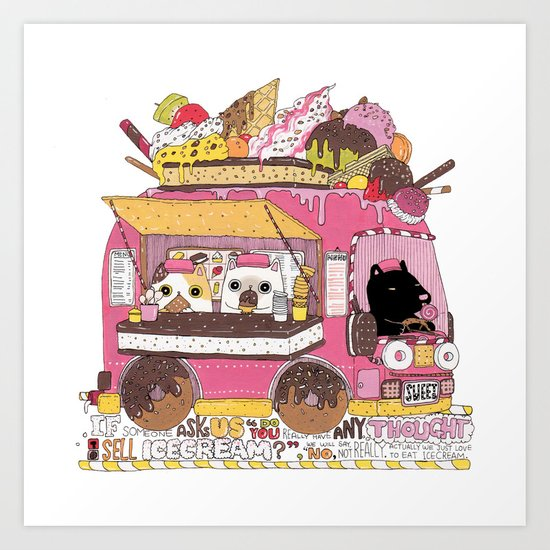 IceCream Truck Art Print