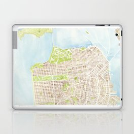 San Francisco CA City Map  Laptop & iPad Skin