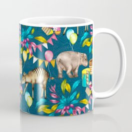 Africa is My Happy Place - a tropical west Africa inspired toile pattern Coffee Mug