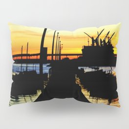 Light shines over the Harbour Pillow Sham