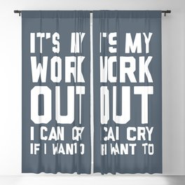 It's My Workout Funny Gym Quote Blackout Curtain