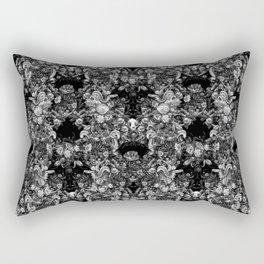 Snakes & Skulls : Gothic Monochrome Rectangular Pillow