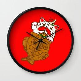 Taiyaki Neko Wall Clock