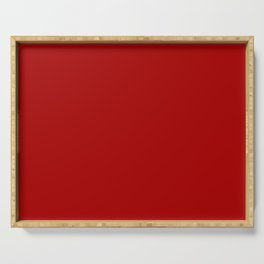 Saucy Red Samba Current Fashion Color Trends Serving Tray