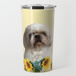 Paul Top Model - Shih tzu dog - Sunflower leaves Travel Mug