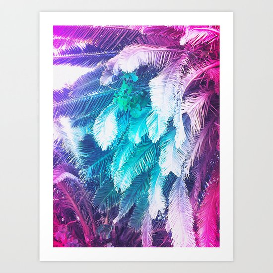 Rainbow Jungle Art Print