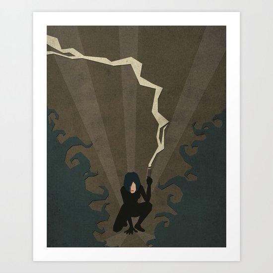 Paper Heroes - Selene Art Print