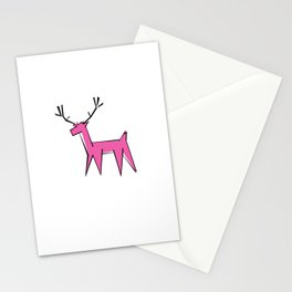 Pink deer  Stationery Cards