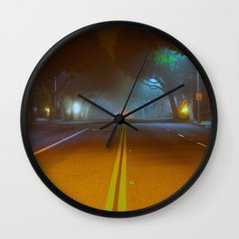 Fog In The Streets  Wall Clock