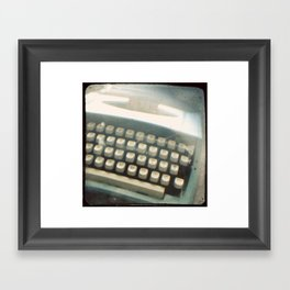 Blue Typewriter TTV Framed Art Print