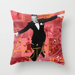 Astaire Collage Portrait 1 Throw Pillow