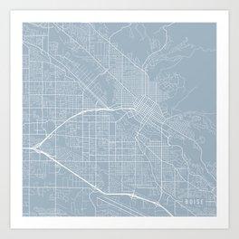 Boise Map, USA - Slate Art Print