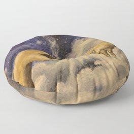 Michaelangelo High in Space Floor Pillow
