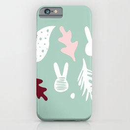 bunnies stain and leavs iPhone Case