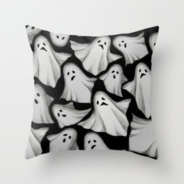 ghost pattern Throw Pillow