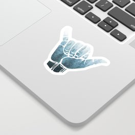 Misty Forest Hang Loose Sticker