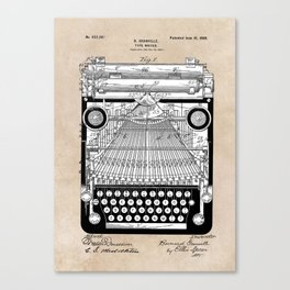 patent art Granville Type Writer 1900 Canvas Print