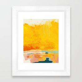 sunny landscape Framed Art Print