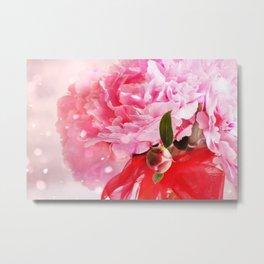 Pretty Pink Peonies :) Metal Print