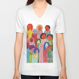 All the People Unisex V-Neck