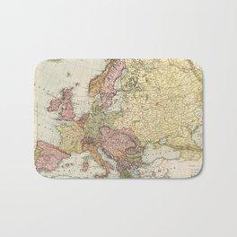 Atlas Map of Europe (1912) Bath Mat