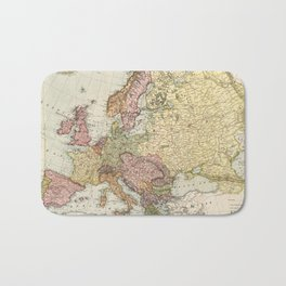 Atlas Map of Europe (1912) Bath Mat