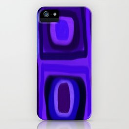 Violets in Blue Windows iPhone Case