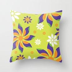 Flowerswirl Throw Pillow