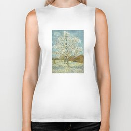 Vincent Van Gogh Peach Tree In Blossom Biker Tank