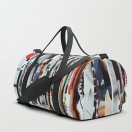 Space Strips - Collage Duffle Bag
