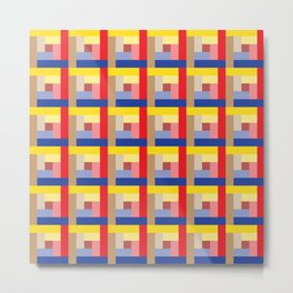 Sundial (Yellow, Red, Blue, Brown) Metal Print