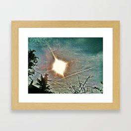 Someone shot the sky Framed Art Print