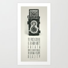 To photograph... Art Print