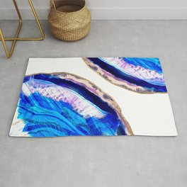 Sapphire and Ice Agate Slices Rug