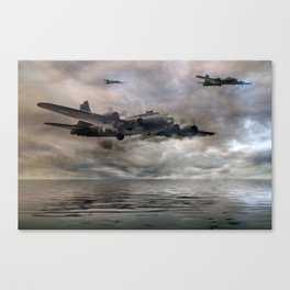 B-17 Flying Fortress - Almost Home Canvas Print