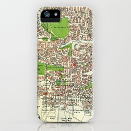 Vintage Johannesburg South Africa Map (1913) iPhone Case
