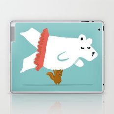You Lift Me Up - Polar bear doing ballet Laptop & iPad Skin