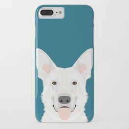 German Shepherd - White cute dog portrait iPhone Case