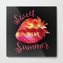 Sweet Strawberry Summer Metal Print