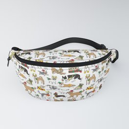 Christmas Dogs Fanny Pack
